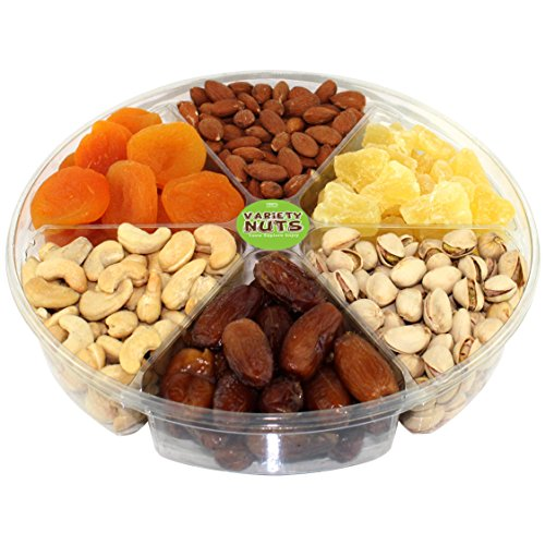 Premium Gourmet Nuts & Dried Fruits Gift Basket, Large Tray Fresh and Roasted.