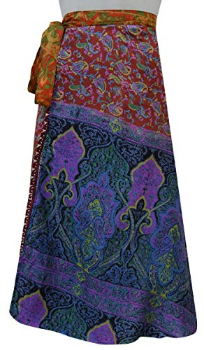 Multicolore Indianbeautifulart Wrap Soie Double Summer Vintage Couche Pure Beach Saree W4BzwAq