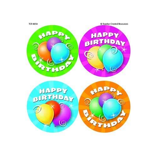 Birthday Wear Em Badges - TEACHER CREATED RESOURCES BIRTHDAY WEAR EM BADGES (Set of 12)