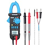 Clamp Meter Neoteck 4000 Counts Auto-Ranging Digital Multimeter 600V AC/DC Clamp Tester with Temperature Function for AC/ DC Voltage AC Current Resistance Capacitance Frequency Diode Continuity Test