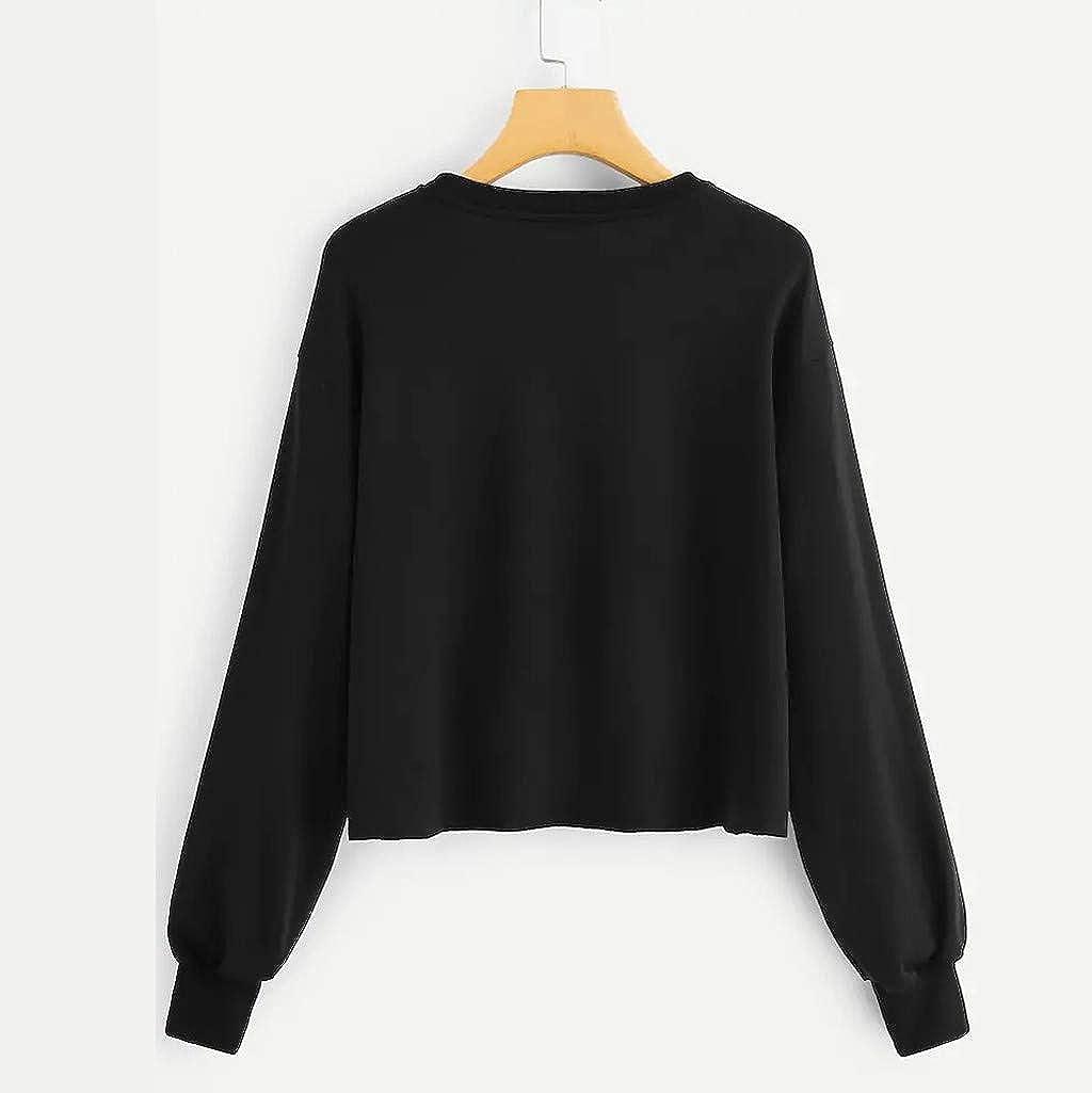 Autumn Sweatshirts for Women Girls,Jchen Ladies Long Sleeve Sweatshirt Letter Girls Print Pullover Tops Blouse Jumper