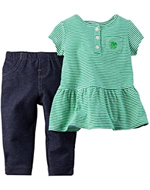 Carters Baby Girls' St. Paddy's Day Tunic & Pant Set