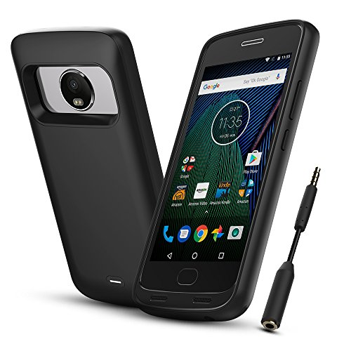 - Moto G PLUS (5th Generation) Battery Case, BrexLink 4400mAh Extended Moto G5 Plus Battery Portable Charger for Motorola G5 Plus (5.2 inch Black) Power Charging Case Pack Bank, with Audio Jack Cable
