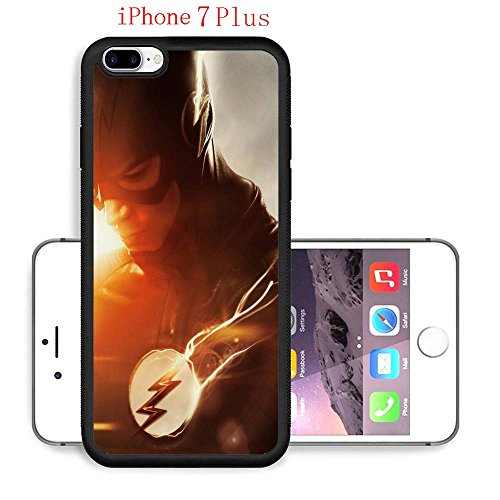 iPhone 7 Plus Case, The TV Series The Flash 72 Drop Protection Never Fade Anti Slip Scratchproof Black Soft Rubber Case