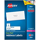 Avery Easy Peel White Mailing Labels for Laser Printers, 1 x 4 Inch, Box of 2000 (5161)