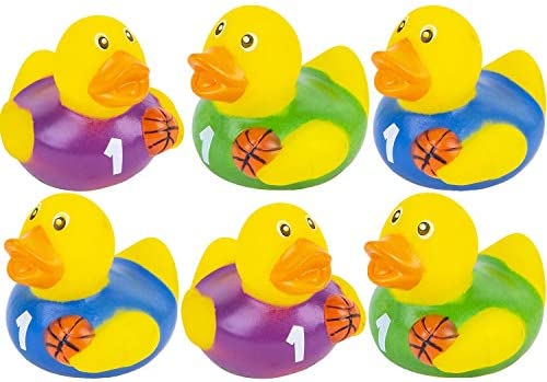 The Dreidel Company Mini Neon Rubber Duck Toy Duckies for Kids 12-Pack Bath Birthday Gifts Baby Showers Summer Beach and Pool Activity 2