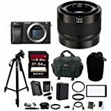 Zeiss Touit 32mm f/1.8 Lens (Sony E-Mount) with Sony a6300 Mirrorless Digital Camera & 64GB Accessory Bundle