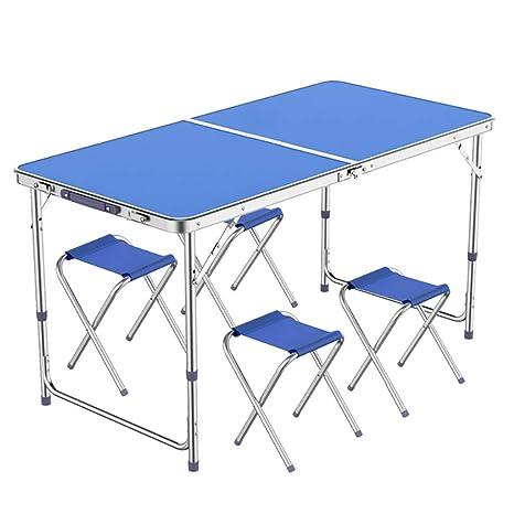 Mesa Las mesas de Camping Que se pliegan, Plegable de Metal ...