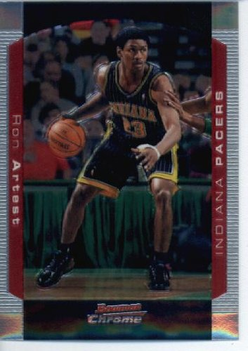 2004 05 Bowman Chrome Basketball Card  106 Ron Artest Indiana Pacers ... df735211d