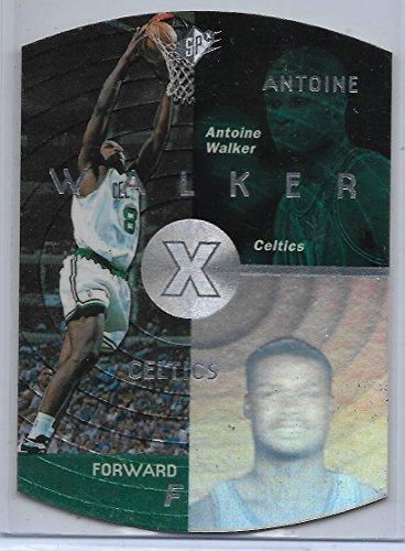 (1997-98 Upper Deck SPX Basketball Antoine Walker Silver Parallel Card # 4)