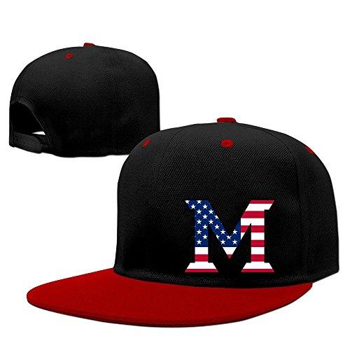 custom-unisex-adult-miami-m-lgoo-flag-university-oxford-adjustable-hit-hip-hop-baseball-cap-cap-hats