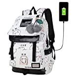 College School Bookbag For Women,Laptop Backpack,Anti-Theft Business Slim Computer Bag with USB Charging Port, Lightweight Travel Bag (White)