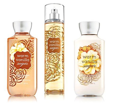 Bath Body Works Warm Vanilla Sugar Body Set Shower Gel, Body Lotion Fragrance Mist