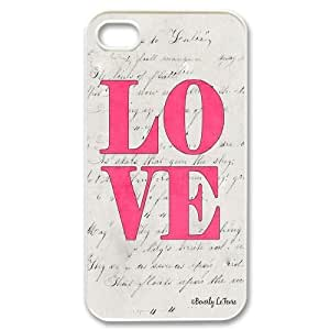 For Iphone 4 4S case cover Love Pink Pattern Protective Back Case-Style-15