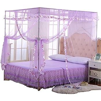 Amazon Com Mengersi Princess 4 Corners Post Bed Curtain Canopy