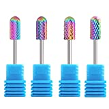 4Pcs Nail File Dirll Carbide Nail Drill Bit Set Professional Bits Tools 3/32 Manicure