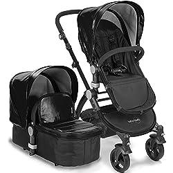 babyroues Letour Lux IIB Stroller, Black
