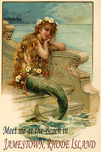 (LITTLE MERMAID SIREN GIRL MEET HER AT THE BEACH IN JAMESTOWN RHODE ISLAND TRAVEL TOURISM 16