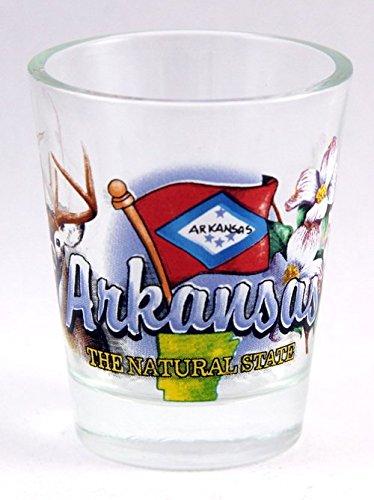 Arkansas Shot Glass - Arkansas Natural State Elements Shot Glass