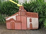 4'' Christmas Tree Ornament La Purisima Concepcion California Mission Church Southwest Handmade Terracotta Clay Art Holiday Decor