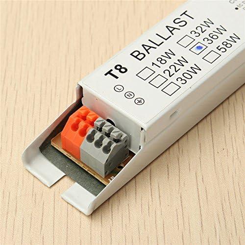 SWED72 T8 220-240 V AC 2 x 36 W Ampoule Fluorescente /à Ballast /électronique /à Tension Large 2 Voir Image 36w