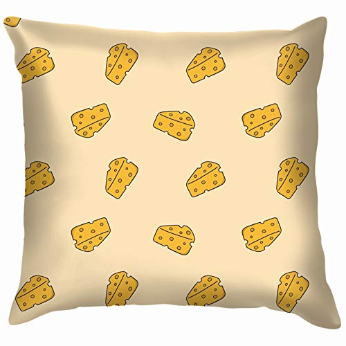Food Drink Cheese Cartoon Funny Square Throw Pillow