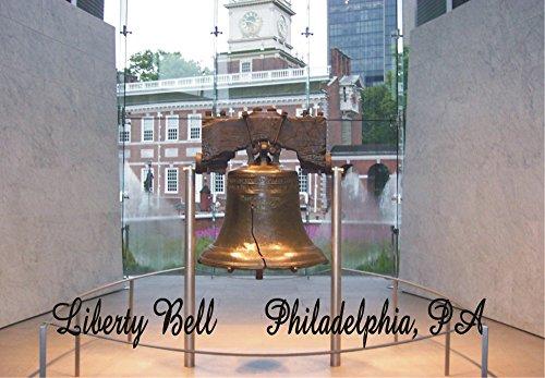 Liberty Bell, Freedom, USA, Philadelphia PA, Souvenir Magnet 2 x 3 Fridge Photo - Airport Philadelphia Shops In