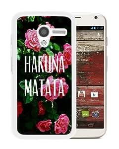Popular Sale Motorola Moto X,HAKUNA MATATA White Unique Custom Motorola Moto X Phone Case