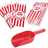 Poppy's Popcorn Scoop and Popcorn Bags Bundle, Nostalgic Popcorn Accessories for Popcorn Machine and Popcorn Bar, Popcorn Scooper and Bags for Carnival|Movie Night|Circus Party Supplies (50): more info