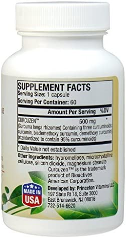 CURCUZEN 95, Natural Curcumin 95 500mg, 60 Caps