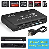 Mini 26-IN-1 USB 2.0 High Speed Memory Card Reader For CF xD SD MS SDHC Black free shipping