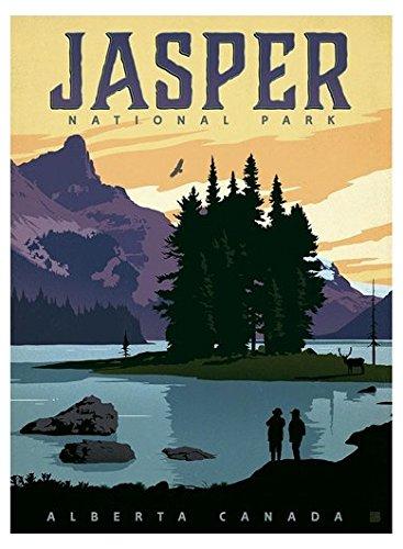 - Jasper Poster Art BUMPER STICKER (rv national park hike)- Sticker Graphic Decal