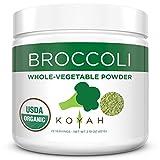 KOYAH - Organic Freeze-Dried Broccoli Powder (Equivalent to 6.25 Cups Fresh): USA Grown, Whole-Vegetable Powder