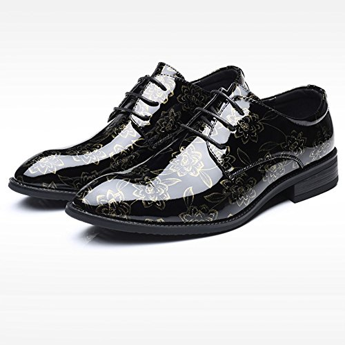 Hommes Grande Taille Derby Formelle Business Lace Up Uniforme De Mariage Classique Casual Party Dress Oxford Chaussures 39-47 Gold fV9ikdmIC