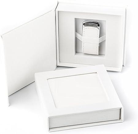 codiarts. Memoria USB 3.0 de 32 GB en Elegante Caja USB con Ventana de Imagen. para Bodas, fotógrafos, Recuerdos de Vacaciones, Regalo (Blanco).: Amazon.es: Hogar