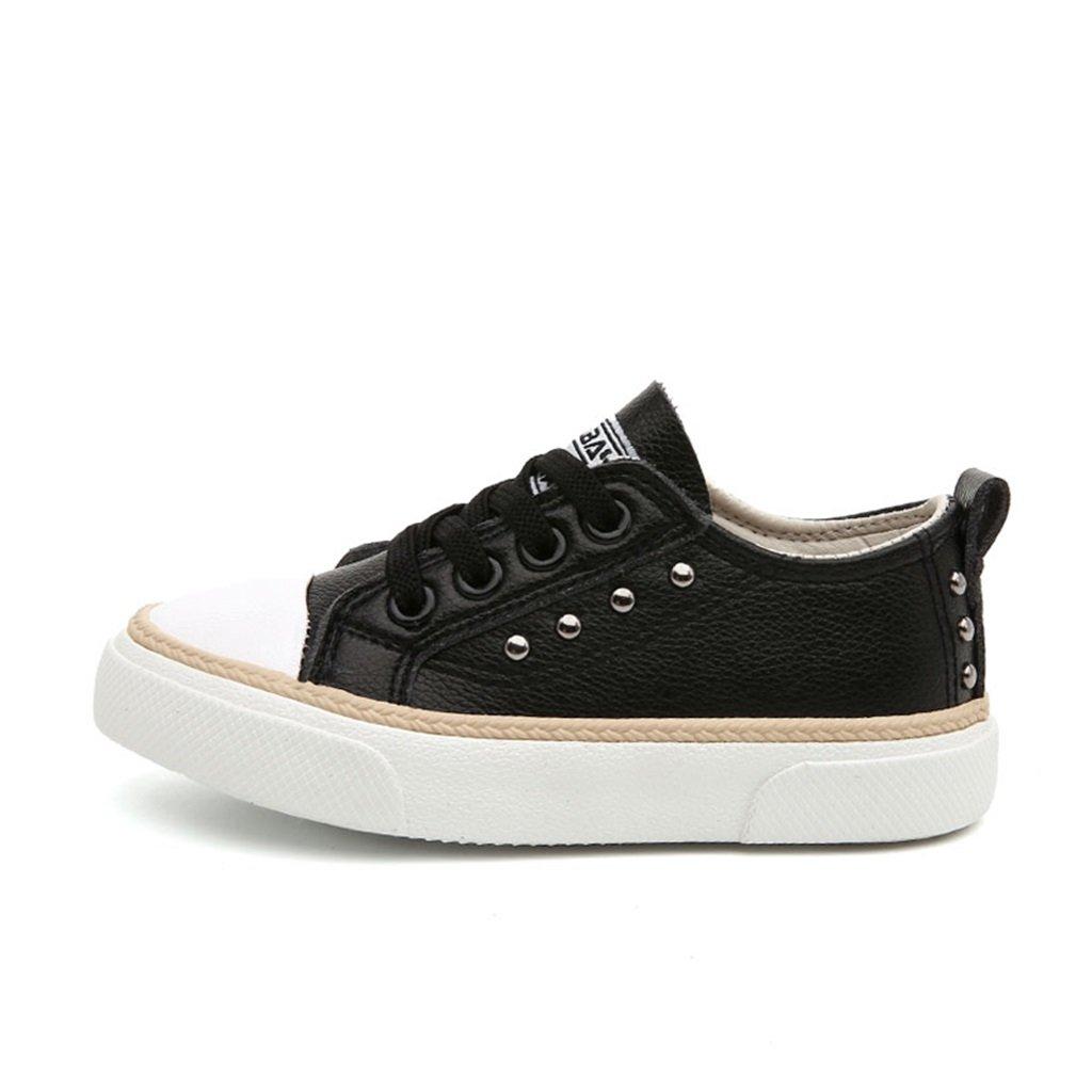 ALUK- Chaussures pour enfants - Chaussures de bébé de printemps et d'automne Chaussures de sport occasionnelles et respirantes ( Couleur : Noir , taille : 35-foot length 21.8cm )