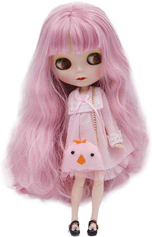 4-Color Changing Eyes Matte Face and Ball Jointed Body Dolls 12 Inch Customized Dolls Can Changed Makeup and Dress DIY 1//6 BJD Doll is Similar to Neo Blythe Golden