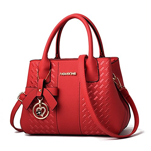Purses and Handbags for Women Fashion Ladies PU Leather Top Handle Satchel Shoulder Tote Bags -