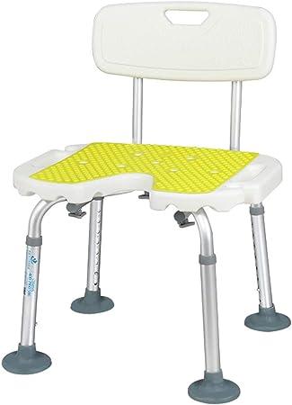 sgabelli da Doccia e Vasca da Bagno Antiscivolo accessibilit/à QIANG-w in Lega di Alluminio Leggero Panca Doccia per Anziani e disabili