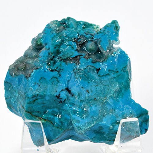 235 Carat Museum Grade Silica Blue Chrysocolla Rough Natural Mineral Cabochon Crystal Gemstone Cab - Peru by HQRP-Crystal