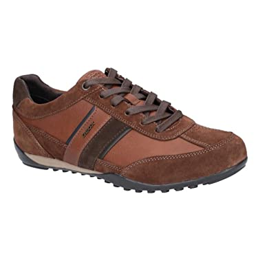 395e69424d8b49 Geox Mens Wells Leather Trainer (UK Size: 10 UK) (Brown): Amazon.com ...