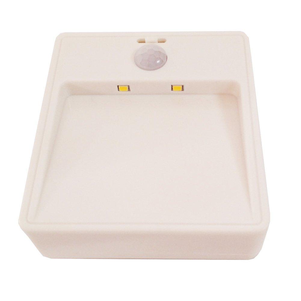モーションセンサーライト、バッテリ駆動式LEDナイトライト、stick-anywhereクローゼットライト、Stairwaysライトfor、廊下、寝室、バスルーム、キャビネットwith Neutral Color B079NVXQL4 14619