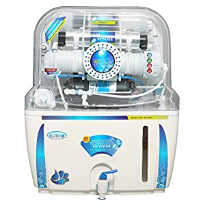 Ruby Water Purifier RO+UV+UF+TDS Controller+MAT 12 Stage Purification White & Blue with 12 Litres Storage for Home and Office use With Pre-Filter,Sediment Filter,Activated Carbon & Mineral Filter Cartridge