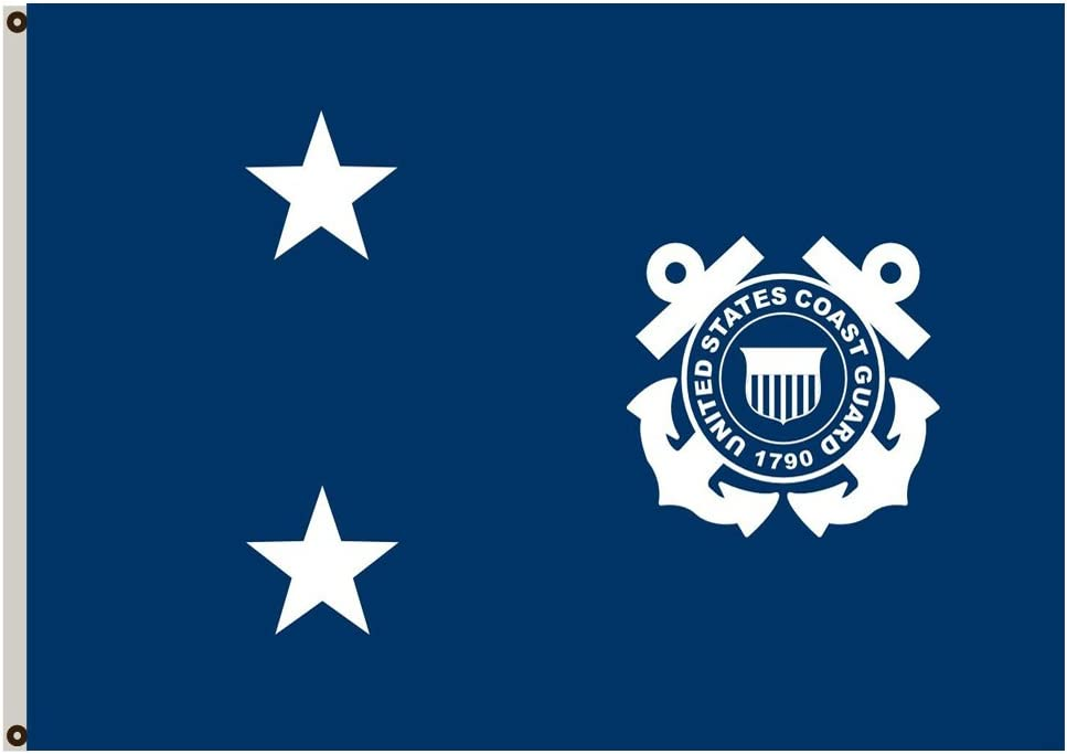Flylife Large Flag Rear Admiral in the United States Coast Guard Flag 3x5ft banner