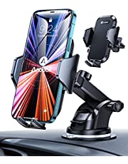 Andobil Car Phone Holder【Ultra-Stable】 Universal Dashboard Vent Windshield Hands-Free Phone Holder for Car Compatible with iPhone 13 12 Pro Max SE XR XS Galaxy S21 Note20 and More