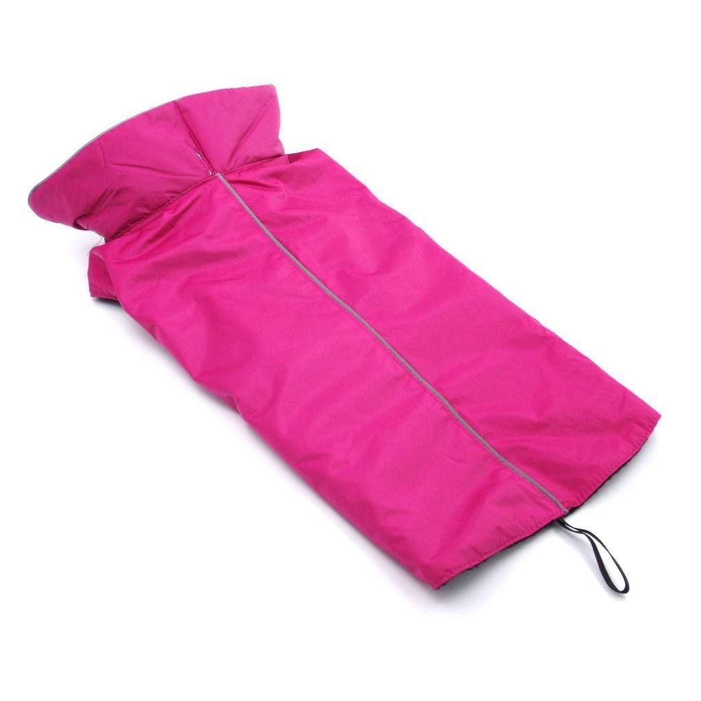 ThinkPet Outdoor Waterproof Reflective Dog Winter Jacket, Dog Rain Coats, Fleece Dog Sweater, XL, Pink