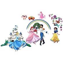 DealMux Cartoon Princess Prince Castle Design Wall Sticker Wallpaper Decor DIY