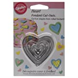 Wilton Fondant Cut-Outs-Hearts Artwork, 3-Pack