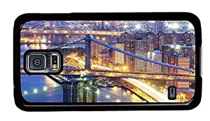 Hipster Samsung Galaxy S5 Case personalize cover ny city PC Black for Samsung S5