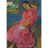 'Paul Gauguin-Melancholic,1891' oil painting, 20x28 inch / 51x70 cm ,printed on Perfect effect Canvas ,this High Definition Art Decorative Prints on Canvas is perfectly suitalbe for dining Room decoration and Home decoration and Gifts